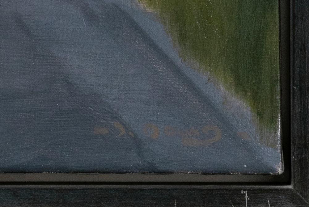 JOHN DOWD, Massachusetts, b. 1960, Shadows on Commerical Street, Provincetown., Oil on canvas, 30