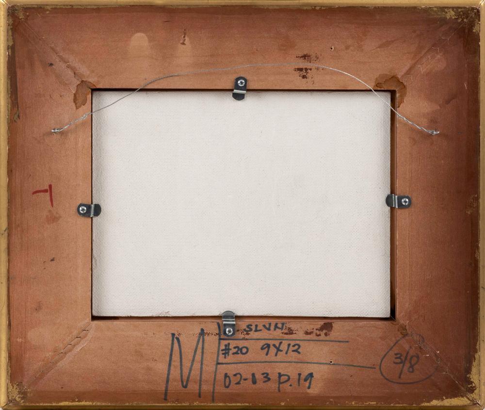 DAVID L. MILLARD, Massachusetts, 1915-2002, Still life with wedge of cheese., Oil on board, 9