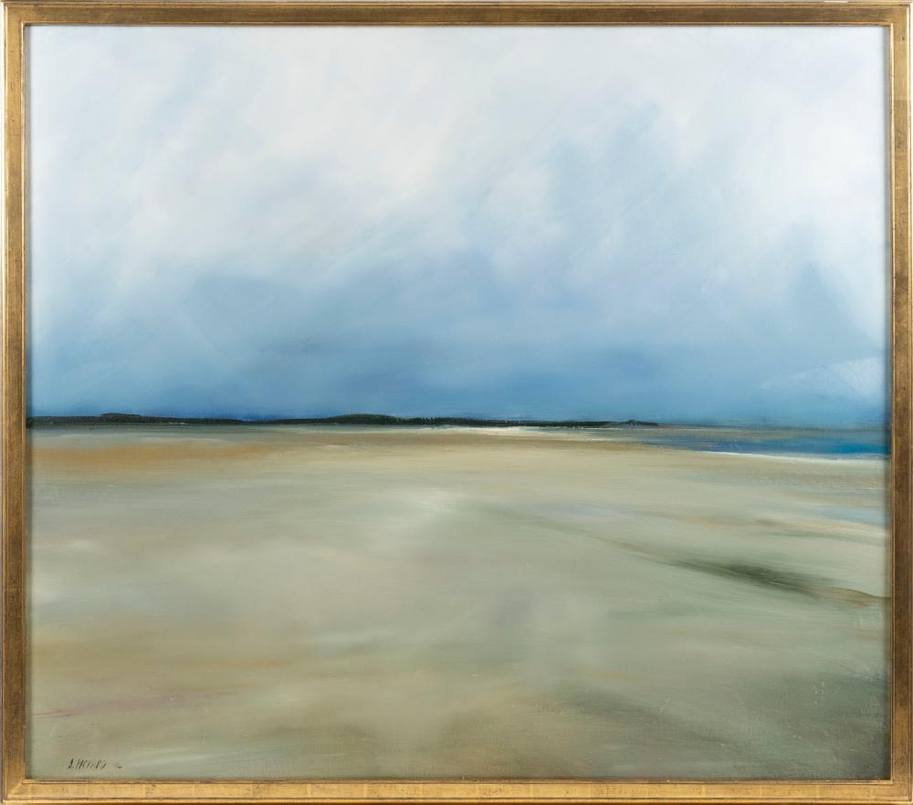 "ANNE PACKARD , Massachusetts/New Jersey, b. 1933, Seascape., Oil on canvas, 42.5"" x 48"". Framed 45.5"" x 51""."