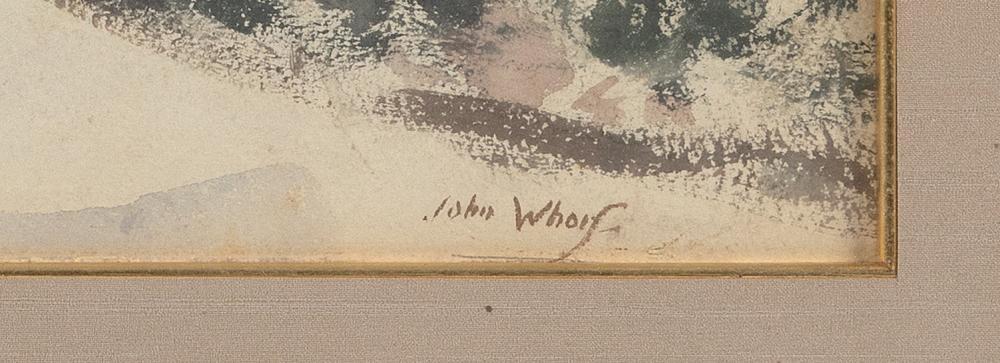 JOHN WHORF , Massachusetts, 1903-1959, Farm in winter., Watercolor on paper, 14