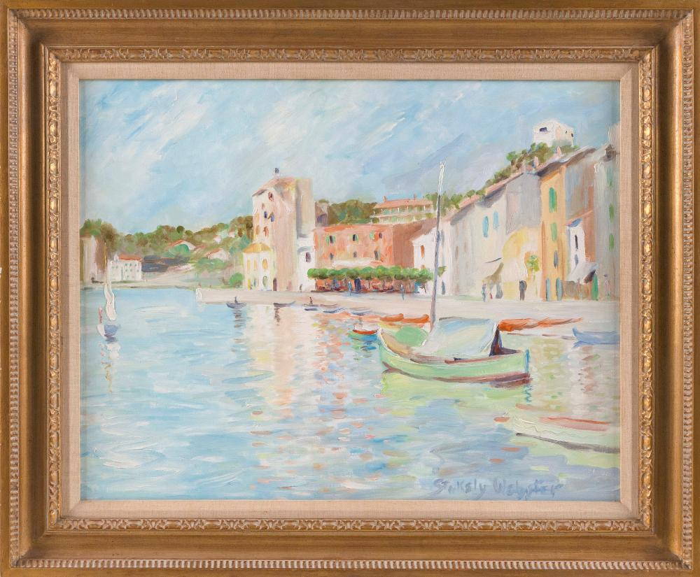 "STOKELY WEBSTER (Connecticut/New York/Illinois, 1912-2001), ""Port de St. Tropez""., Oil on canvas, 24"" x 30"". Framed 29"" x 35""."
