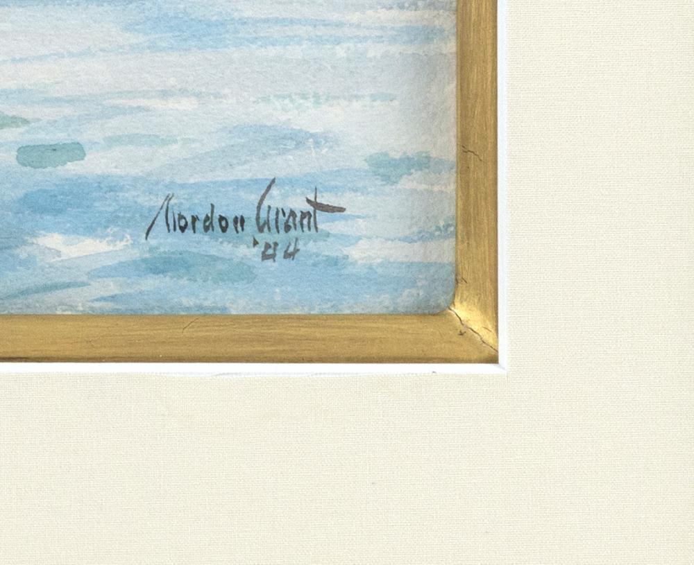 GORDON HOPE GRANT, New York/California/United Kingdom, 1875-1962, Harbor scene with men in a fishing dory., Watercolor on paper, 11....