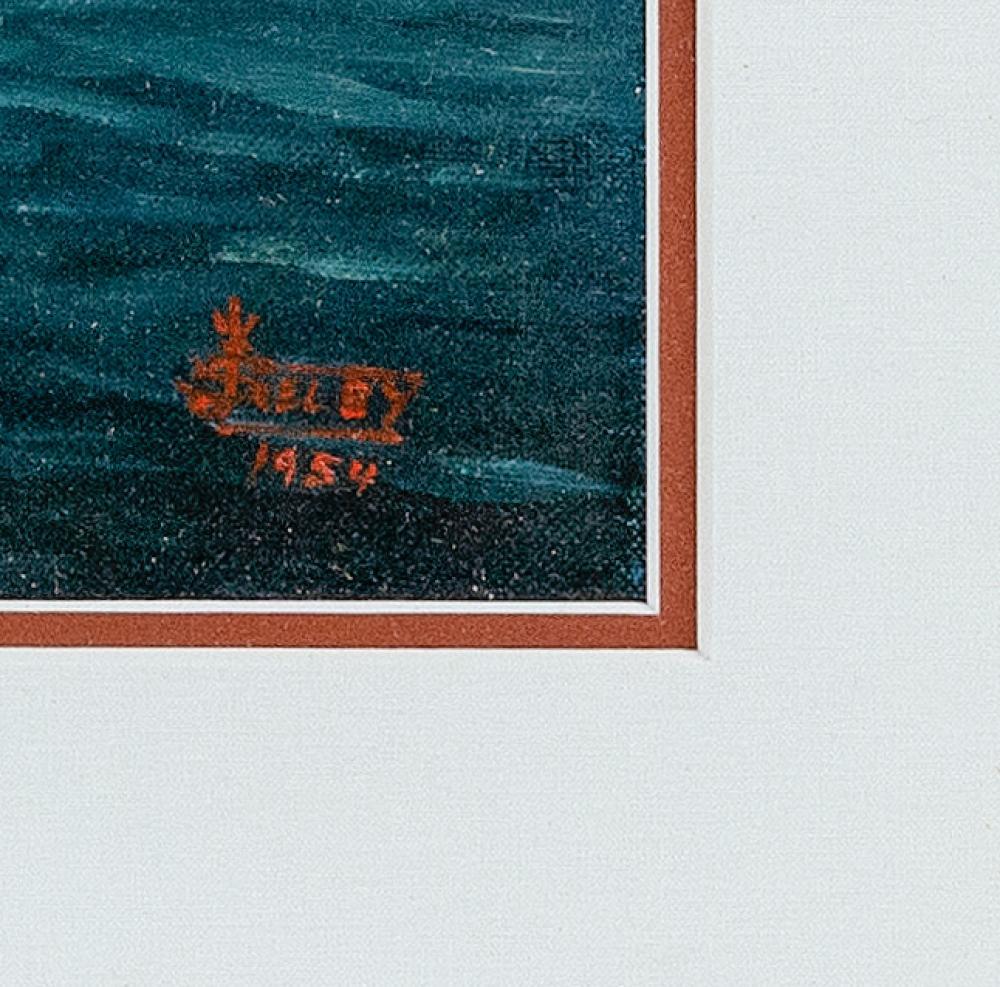 JOE SELBY, Florida, 1893-1960, Portrait of a cabin cruiser., Oil on canvas board, 13.75