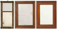 THREE MIRRORS 1) Two-part with grain-painted finish. 22