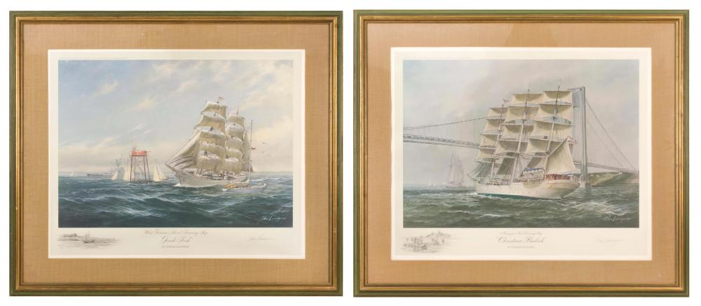 """CHARLES LUNDGREN, United States, 1911-1988, Two limited edition lithographs:, 25"""" x 31"""" sight. Framed 34"""" x 40""""."""