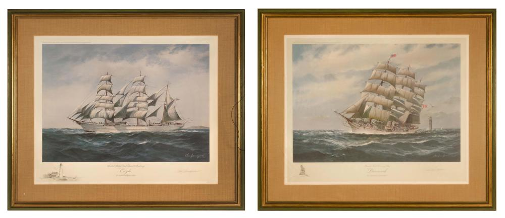 """CHARLES LUNDGREN, United States, 1911-1988, Two limited edition lithographs:, Lithographs, 25"""" x 31"""" sight. Framed 34"""" x 40""""."""