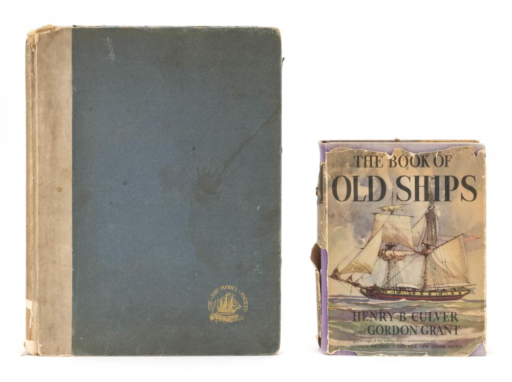 TWO VOLUMES ON SHIPS 1) The Book of Old Ships by Henry B. Culver (Garden City Publishing, 1926[?]). 2) Contemporary Scale Models of...