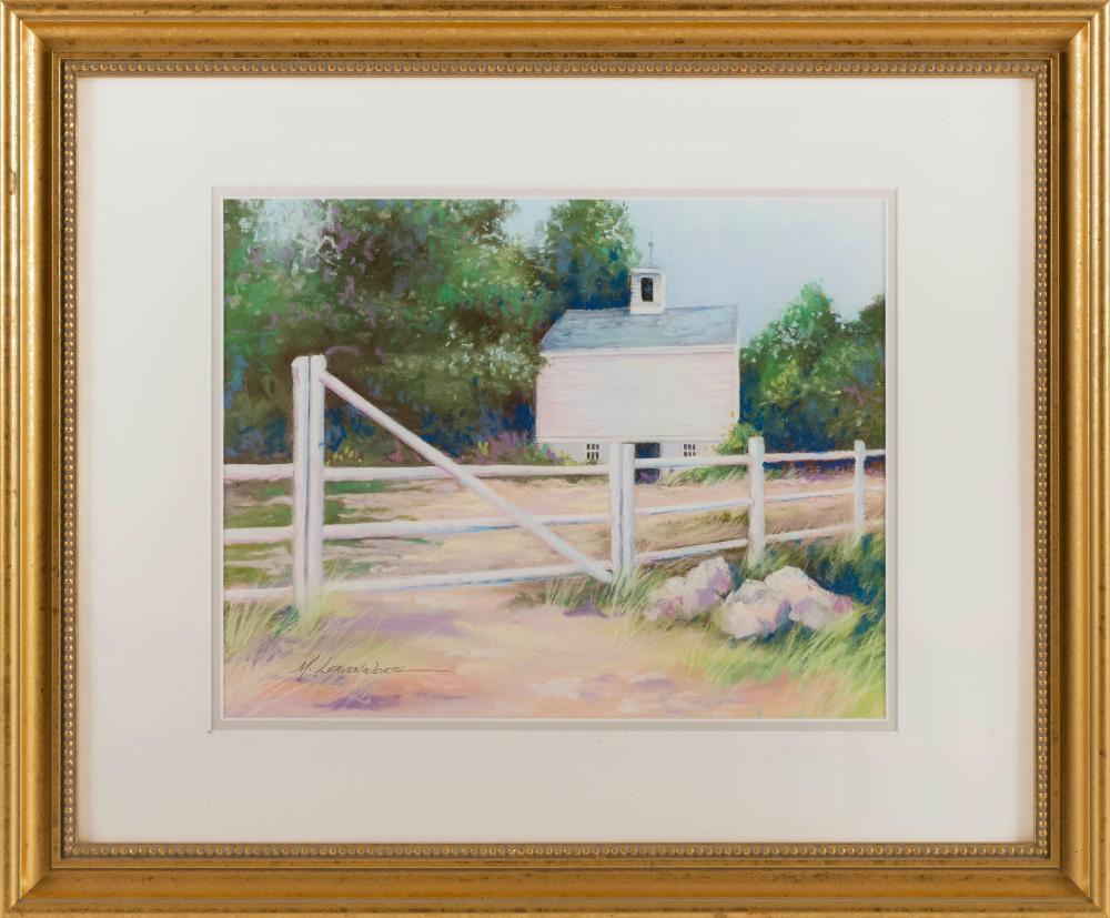 "MAUREEN LEAVENWORTH, Cape Cod, Contemporary, ""Cape Cod Barn""., Pastel on paper, 10.5"" x 14"". Framed 19"" x 23""."