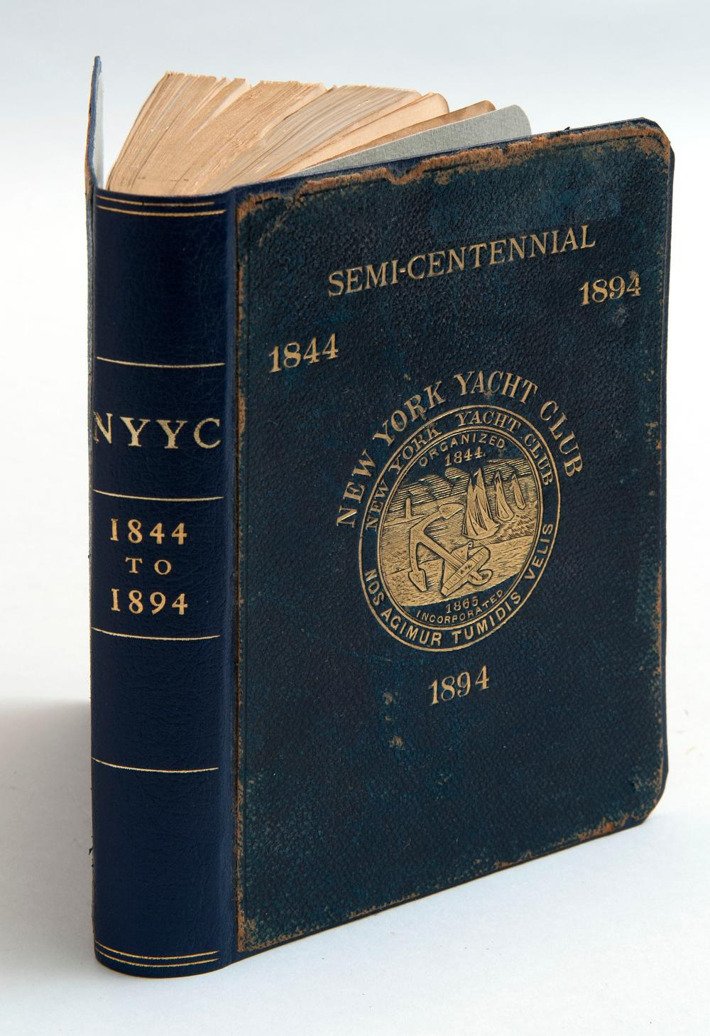 VOLUME ON THE NEW YORK YACHT CLUB Act of Incorporation, Lithographs of Pennants and Private Signals, Lists of Yachts, Constitution a...