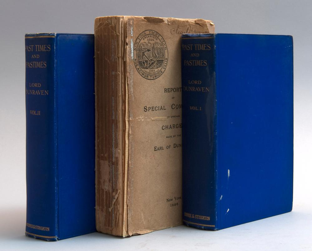 THREE VOLUMES ON YACHTING 1) Report of the Special Committee of the New York Yacht Club (New York: Printed for the Club, 1896). Titl...