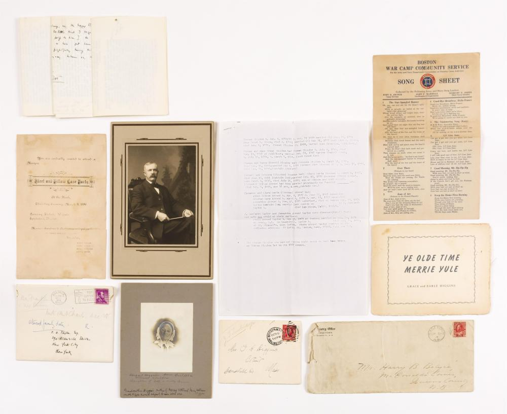 TEN DOCUMENTS FROM CAPE COD AUTHOR PHOEBE ATWOOD TAYLOR 1-4) Four 1958-59 letters from Taylor (1909-1976) to Carl Taylor of New York...