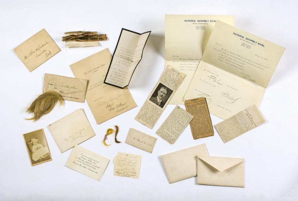 APPROX. 15 PIECES OF FAMILY EPHEMERA Relating to the Collins, Atkins and Lombard families of Somerville, Truro and Eastham, Massachu...