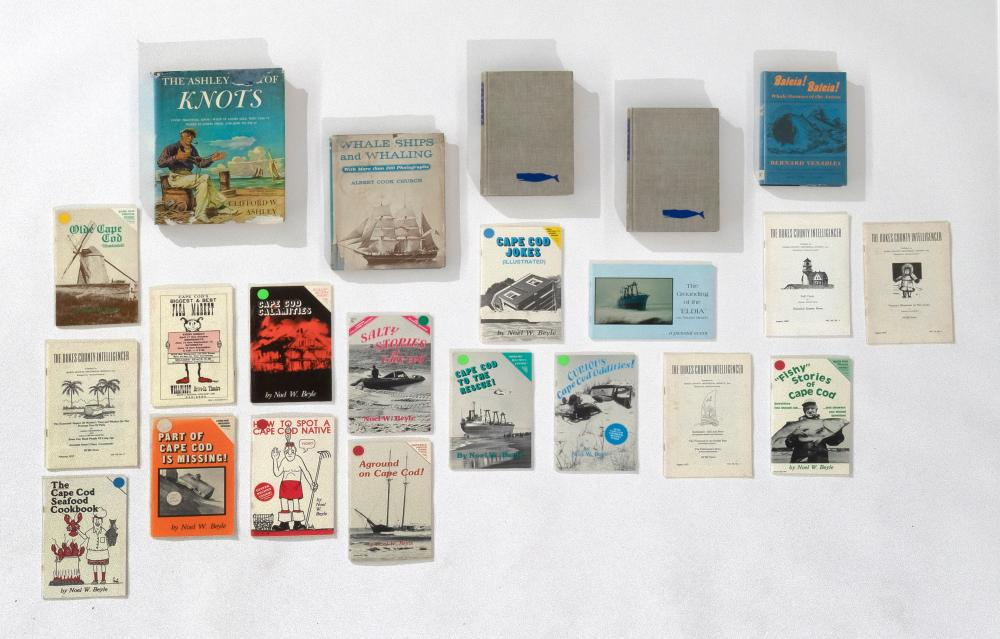 FOUR BOOKS AND SEVENTEEN PAMPHLETS ON WHALING AND THE CAPE AND ISLANDS 1) The Ashley Book of Knots by Clifford W. Ashley (Garden Cit...