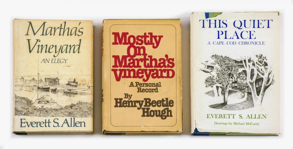THREE PUBLICATIONS ON CAPE COD AND THE ISLANDS 1) Martha's Vineyard, an Elegy by Everett S. Allen (Boston: Little, Brown & Co., 1982..