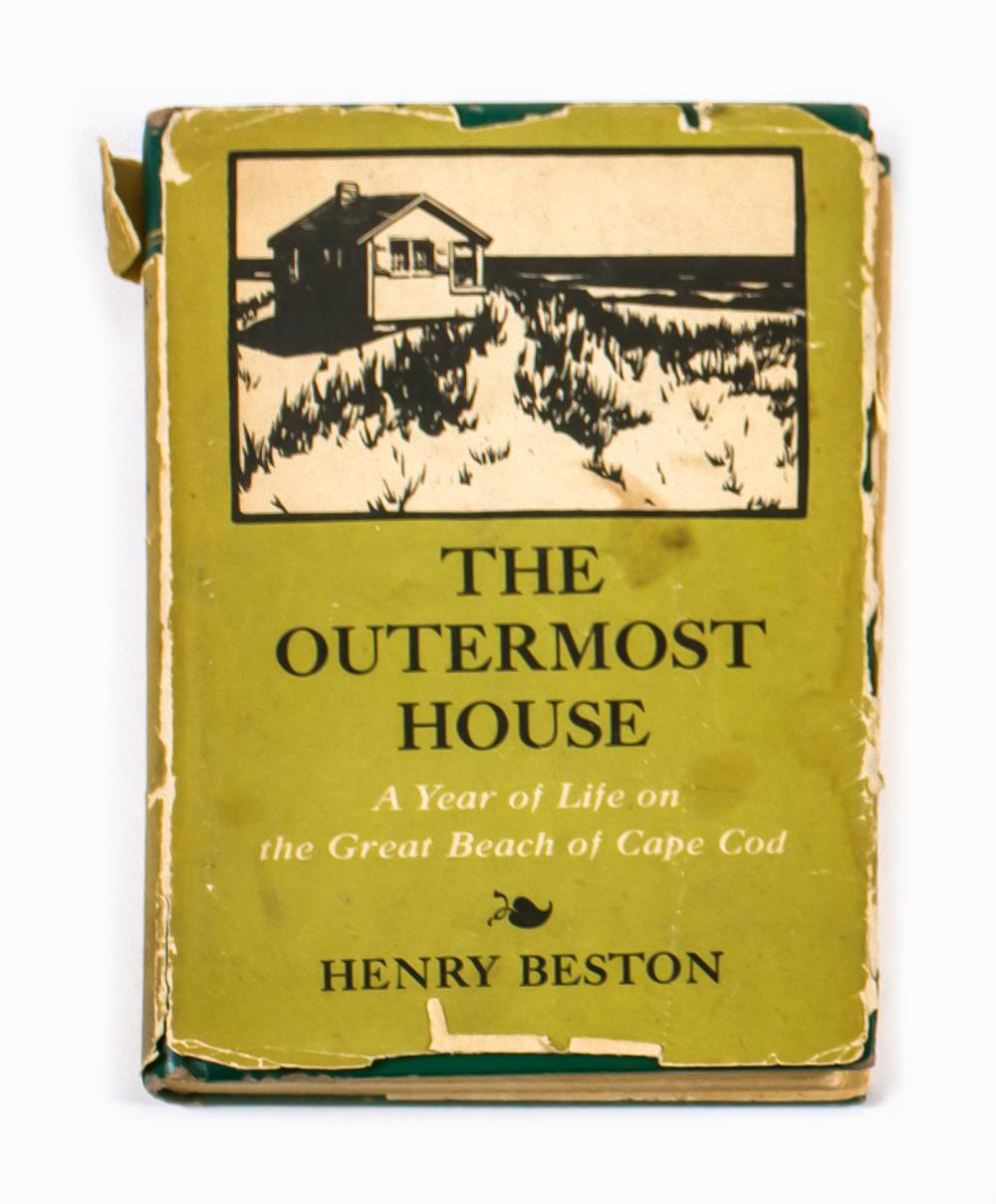COPY OF THE OUTERMOST HOUSE By Henry Beston. Fully titled The Outermost House: A Year of Life on the Great Beach of Cape Cod (N.Y.:...