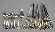 TWENTY-FIVE PIECES OF FLATWARE BY WALLACE SILVERSMITHS In the