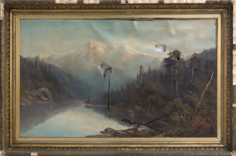 EDMUND J. HARRIS, American, 19th Century, California landscape, Oil on canvas, 29.75