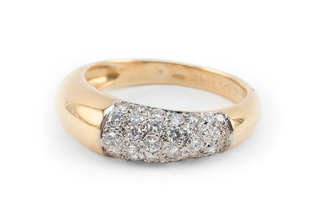CARTIER 18KT GOLD AND DIAMOND RING Approx. 3.64 total dwt.