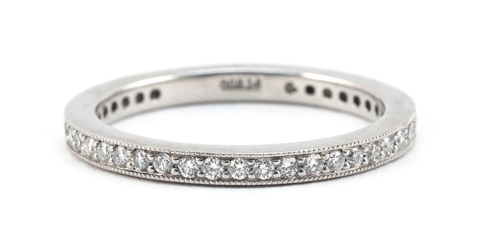 D. VATCHE PLATINUM AND DIAMOND ETERNITY BAND Approx. 2.47 total dwt.