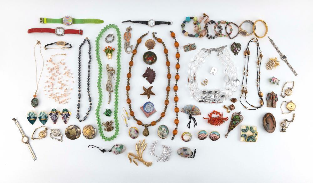 APPROX. SIXTY-FOUR PIECES OF COSTUME JEWELRY