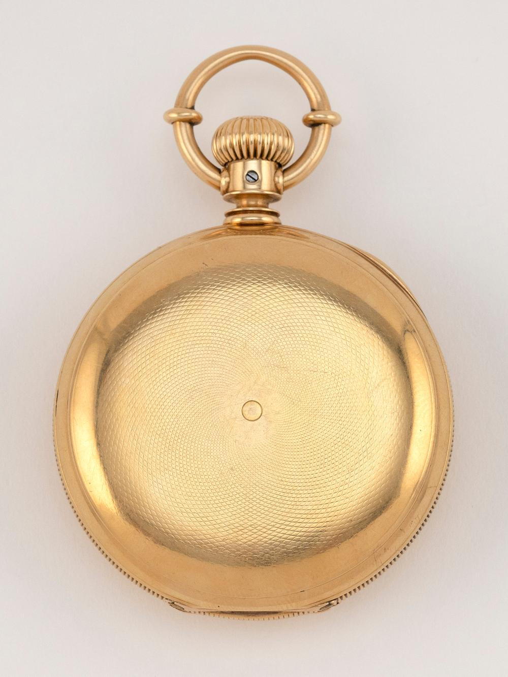 AMERICAN WATCH CO. 18KT GOLD CASED POCKET WATCH 1876 Approx. 87.06 total dwt.