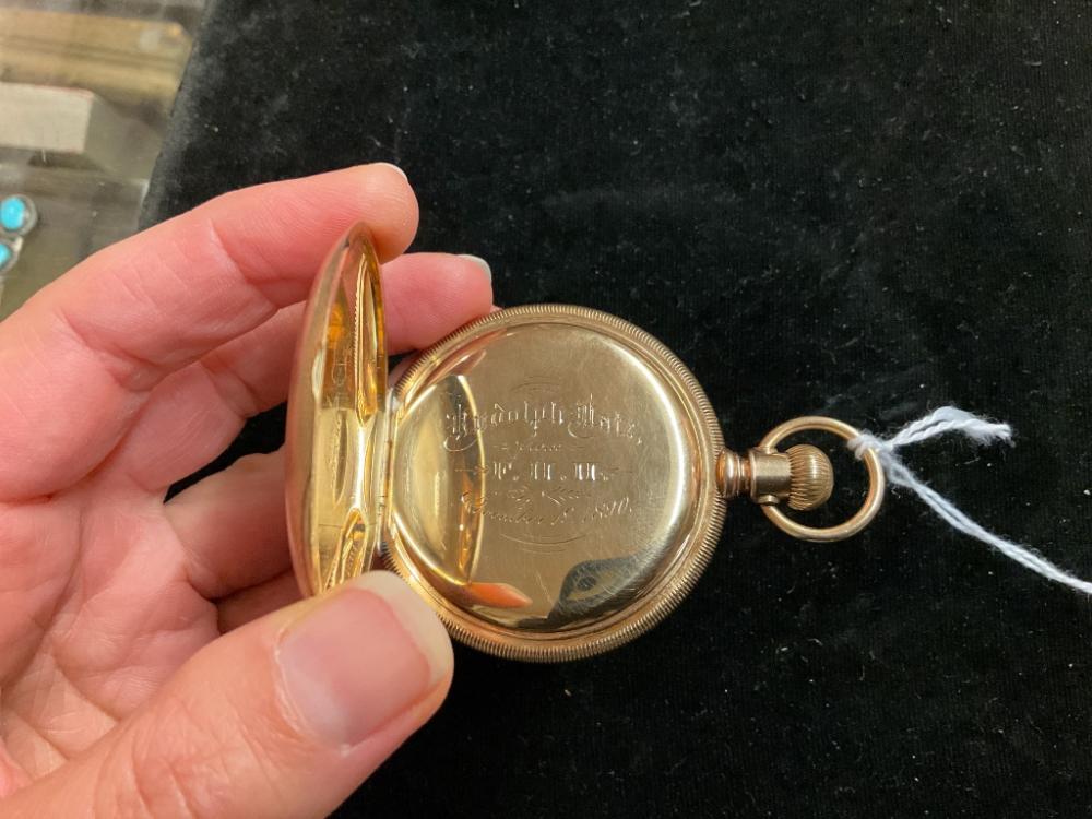 HOWARD & CO. 14KT GOLD HUNTER POCKET WATCH Boston, Late 19th Century