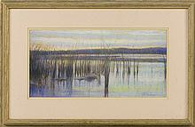 SAM BARBER, Massachusetts, b. 1943, Marsh scene., Pastel, 9