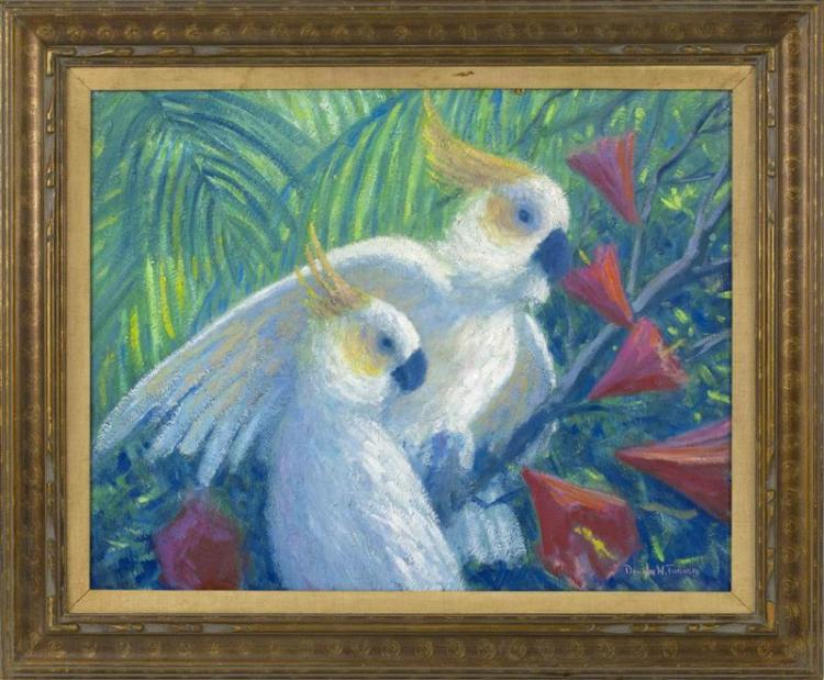DOUGLAS W. TURNER, Cape Cod, Contemporary, Tropical birds., Oil on canvas, 24