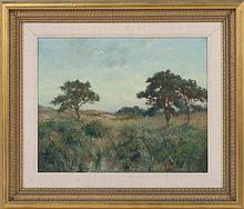 EDMUND HENRY GARRETT, Massachusetts, 1853-1929, Cape Cod landscape., Oil on board, 16