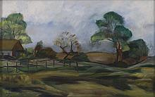 HELEN ALTON FARNSWORTH SAWYER, Massachusetts/Florida/District Of Columbia, 1900-1999, Landscape with rolling hills., Oil on canvas,...