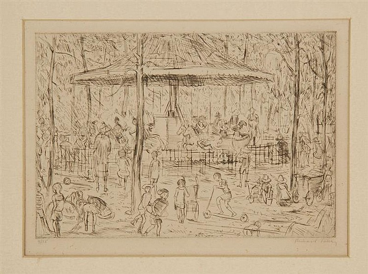 UNFRAMED ETCHING: RICHARD LAHEY (American, 1893-1978).