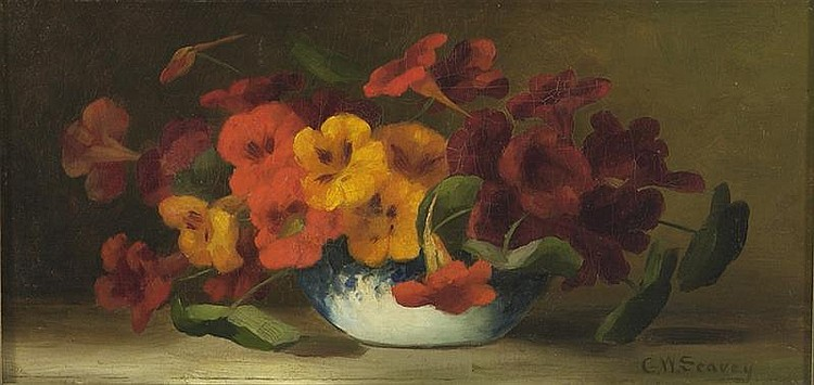 GEORGE W. SEAVEY, American, 1841-1916, Floral still life., Oil on canvas, 8