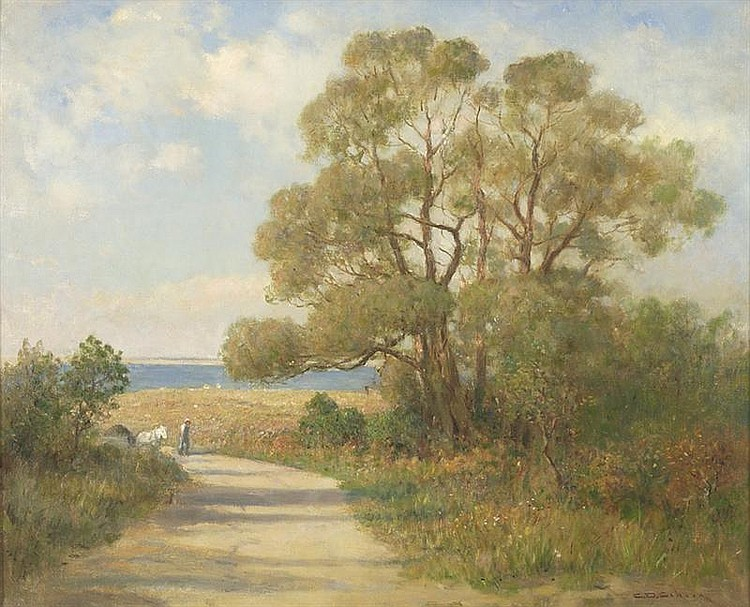 CHARLES DREW CAHOON, American, 1861-1951, Salt Hayer,, Oil on canvas, 22