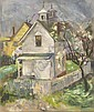BRUCE MCKAIN, American, 1900-1990, Provincetown home., Oil on canvas, 30