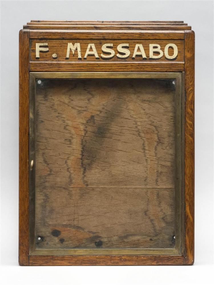 MENU DISPLAY BOX In oak. 16