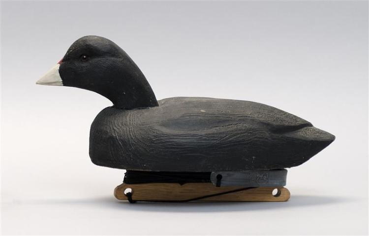 COOT DECOY Probably Wisconsin. Maker unknown.