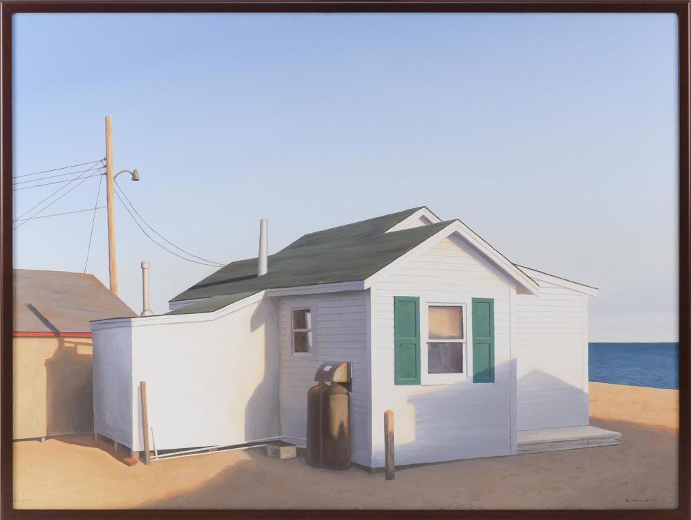 "JIM HOLLAND, Massachusetts/Florida, b. 1955, ""Sea Shanties #2""., Oil on canvas, 30"" x 40"". Framed 31"" x 41""."