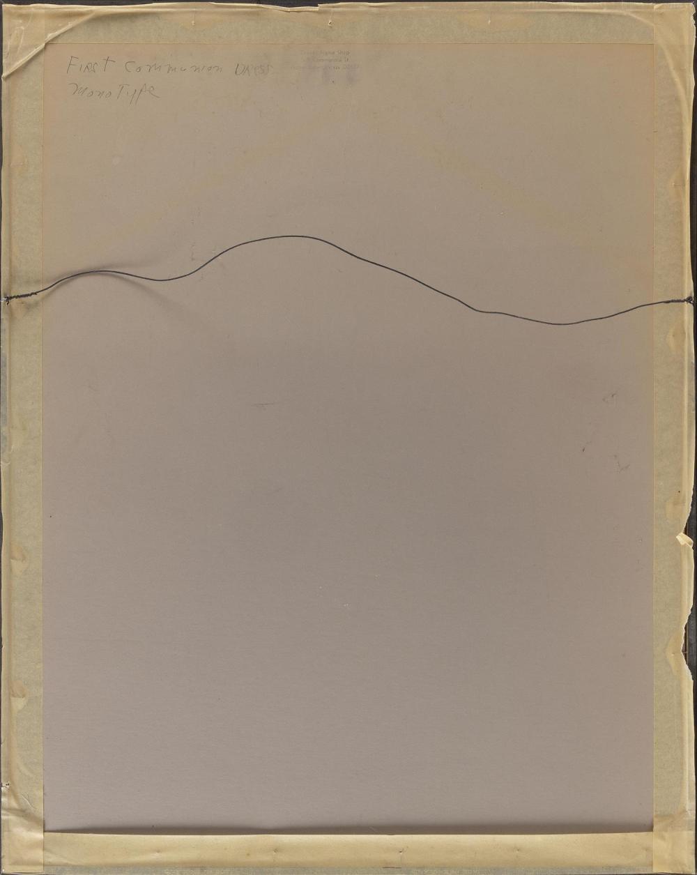 JOAN PEREIRA, Massachusetts/Pennsylvania, b. 1933, Portrait of woman in white., Mixed media on paper, 24