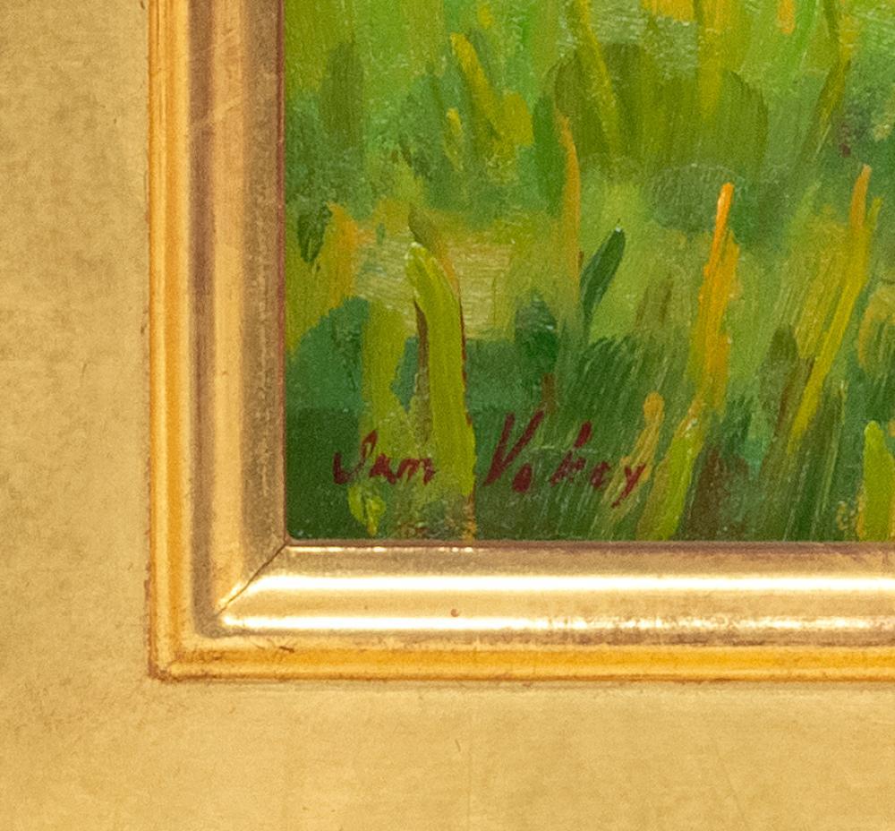 SAM VOKEY, Massachusetts, b. 1963, Reflection on a marsh., Oil on canvas, 9.5