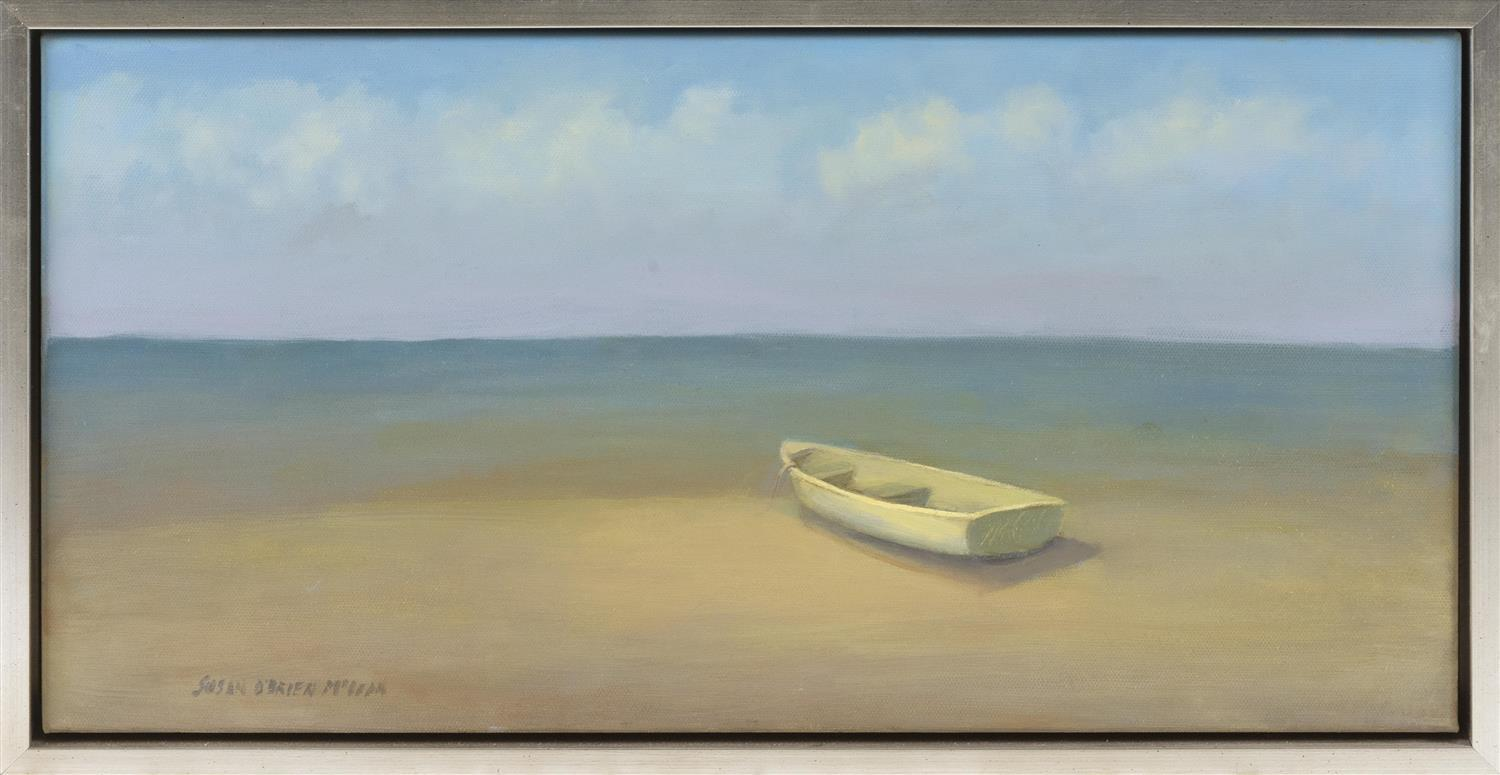 "SUSAN O'BRIEN MCLEAN, Massachusetts, Contemporary, ""Solitude""., Oil on canvas, 10"" x 20"". Framed 11"" x 22""."