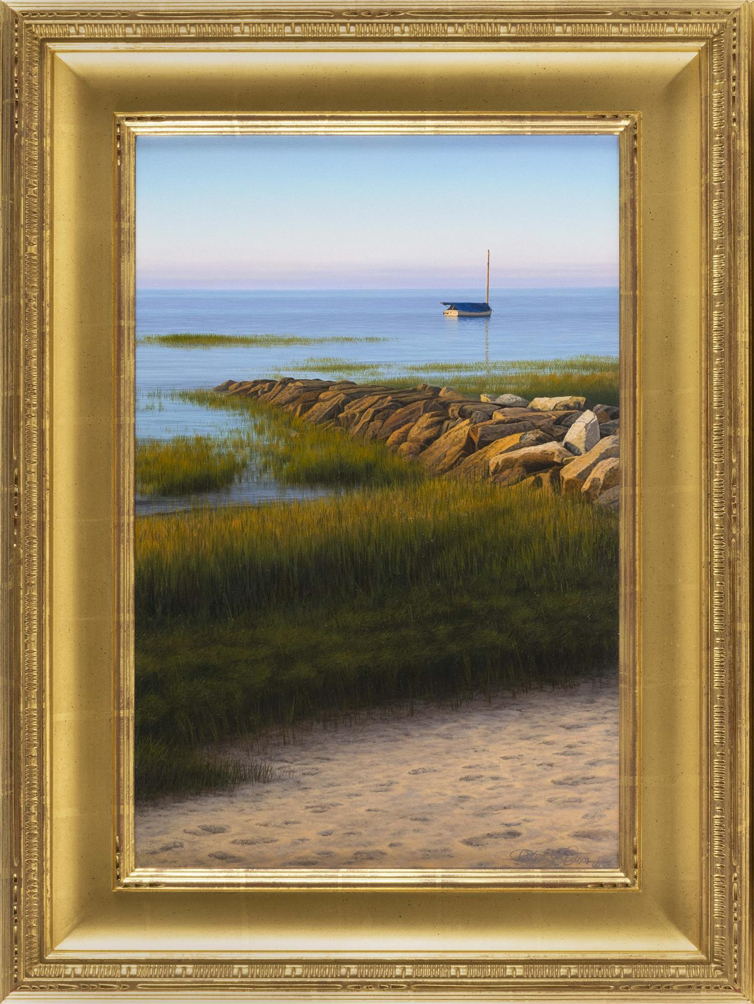 "PATRICK E. KITSON, Pennsylvania/New Jersey, b. 1970, ""In the Air""., Oil on panel, 24"" x 16"". Framed 32.5"" x 24""."