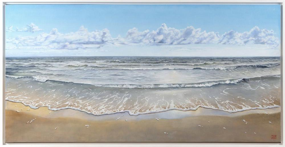 YASEMIN KYRENA TOMAKAN, Connecticut/Massachusetts/Turkey, b. 1958, Clear shores., Oil on canvas, 23.5