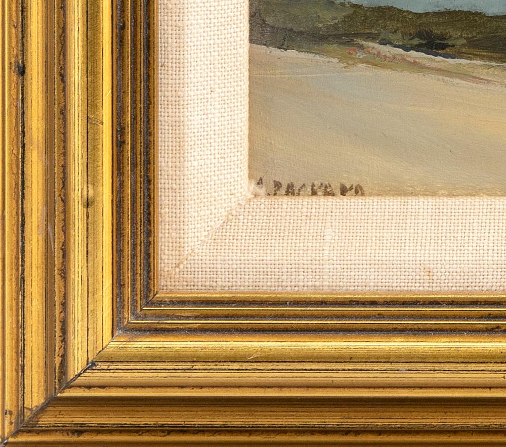 ANNE PACKARD, Massachusetts/New Jersey, b. 1933, Dune scene., Oil on board, 5