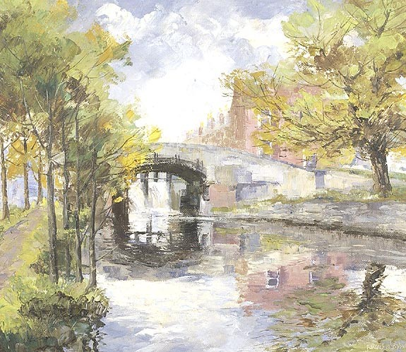 FERGUS O'RYAN Irish, 1911-1989    Leeson Street Bridge. Signed lower right