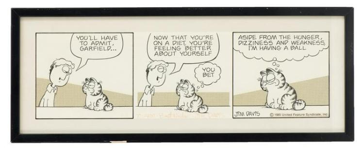 JIM DAVIS, Indiana, b. 1945, Original artwork for