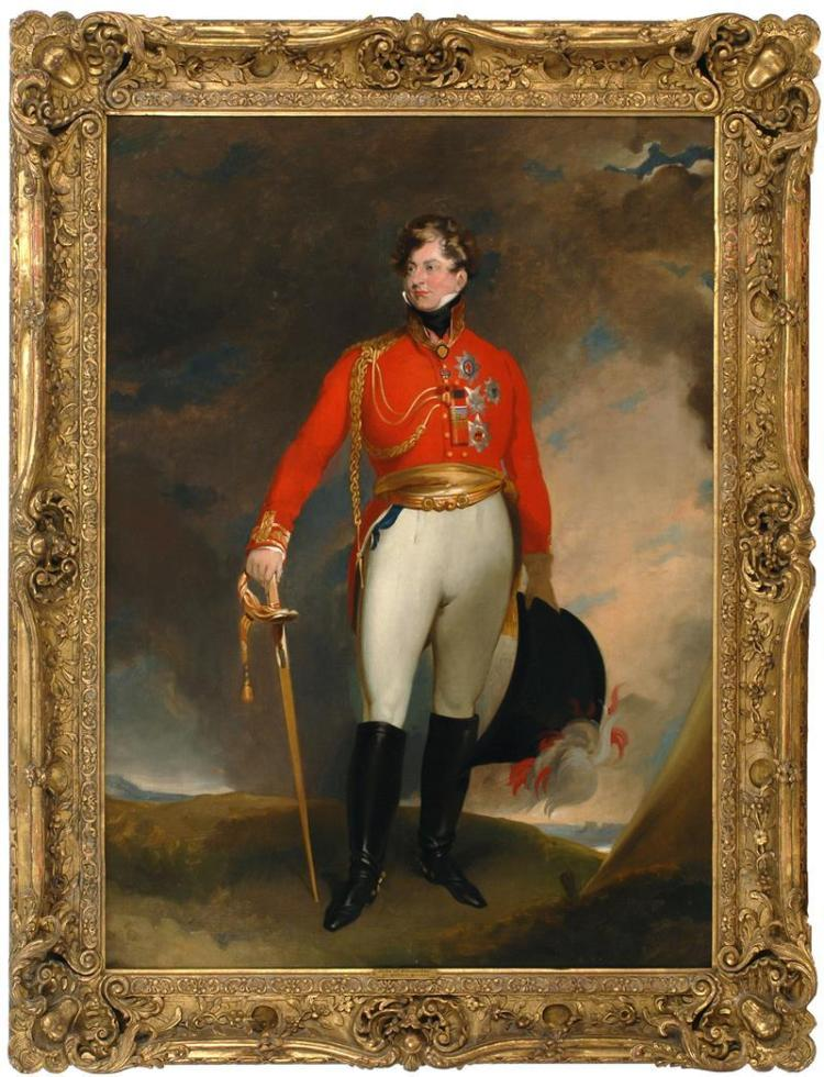AFTER SIR THOMAS LAWRENCE, English, 19th Century, Portrait of The Prince of Wales., Oil on canvas, 42