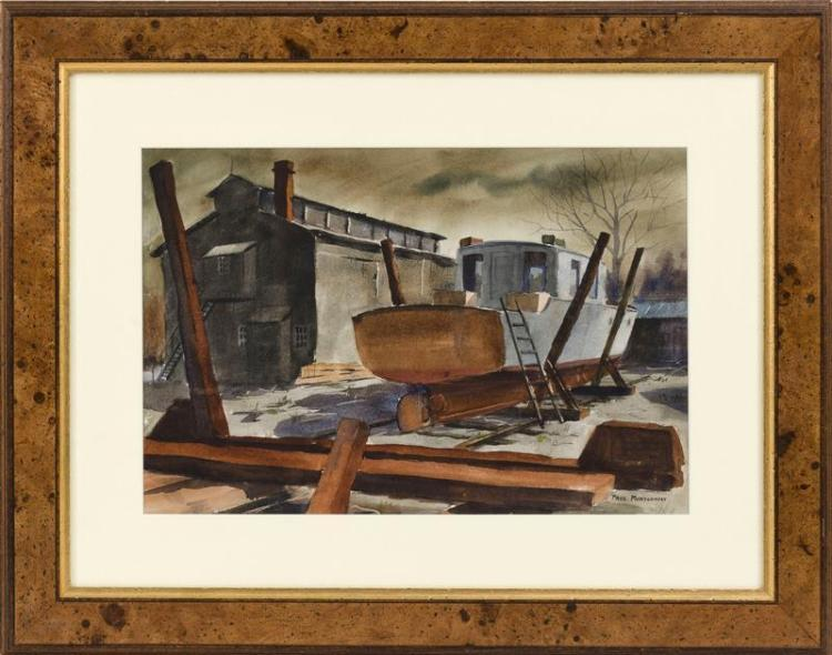 PAUL MONTGOMERY, American, 20th Century, Up for repairs., Watercolor, 14