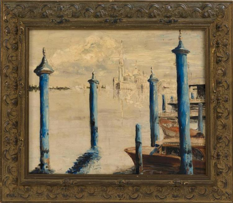 AMERICAN SCHOOL, Early 20th Century, Venice., Oil on board, 20