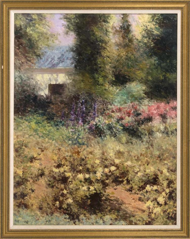 FRAMED IMPRESSIONIST LANDSCAPE PAINTING Oil on board, 36