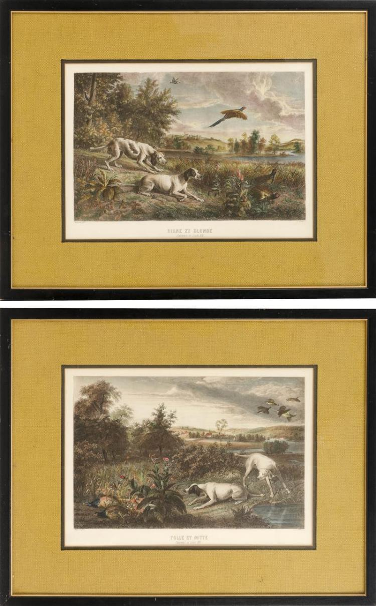 PAIR OF FRENCH HUNTING PRINTS